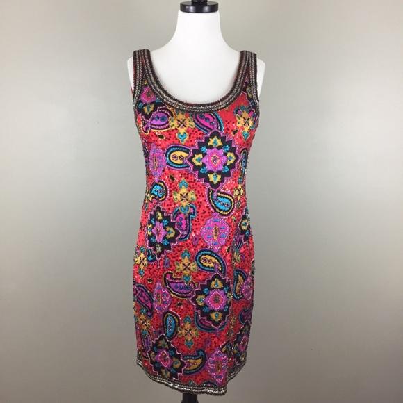 Oleg Cassini Dresses & Skirts - ⭐️HP⭐️ VTG $522 Oleg Cassini Beaded Dress Silk